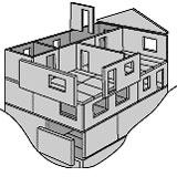 Etagehuskonstruktion med EXPAN Vægge og EXPAN Dæk